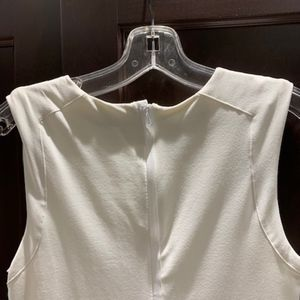 bebe white fitted bandage dress